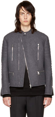 Neil Barrett Grey Authentic Biker Jacket