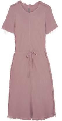 Raquel Allegra Frayed Textured-Crepe Dress