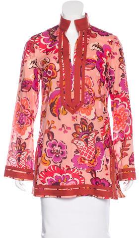 Tory BurchTory Burch Floral Print Tunic Top