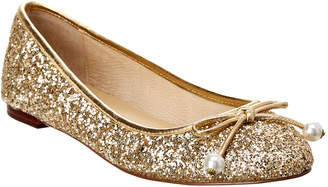 Kate Spade Ellio Glitter Leather Flat