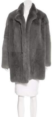 Yves Salomon Fur Knee-Length Coat