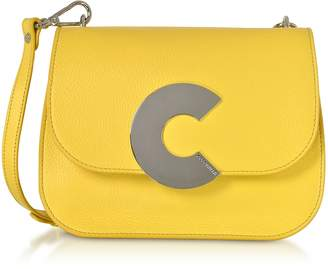Coccinelle Craquante Grained Leather Medium Crossbody Bag