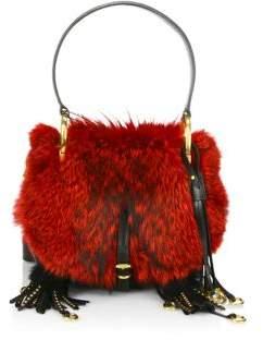 Prada Corsaire Fox Fur& Leather Bag