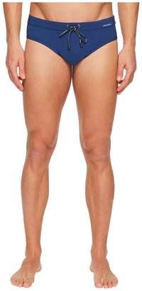 Dolce & Gabbana Solid Brief Swimsuit w/ Bag Men's Swimwear