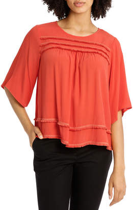 Fringe Wide Sleeve Top