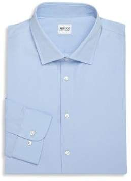 Armani Collezioni Modern-Fit Cotton Dress Shirt