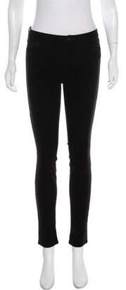 J Brand Velvet Mid-Rise Skinny Jeans