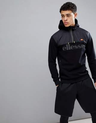 Ellesse Sport Half Zip Hoodie In Black