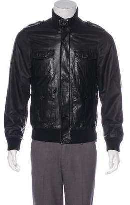 Prada Leather Bomber Jacket black Leather Bomber Jacket