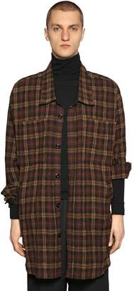 Faith Connexion Oversize Wool Flannel Shirt
