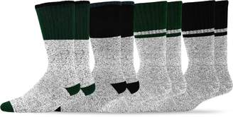 TeeHee Socks TeeHee Recycled Cotton Thermals Boot Socks with 3 Stripe Tip 4 Color 4-Pack