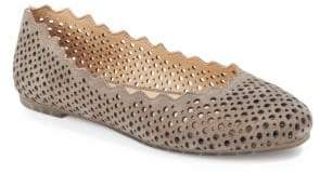 Me Too Carlee Perforated Round Toe Flats $89 thestylecure.com
