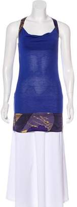 Ted Baker Silk-Trimmed Sleeveless Top