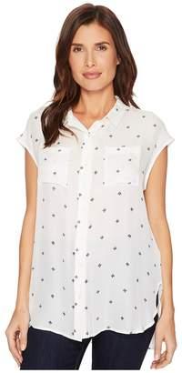 Pendleton Sleeveless Silk Button Up Women's Clothing