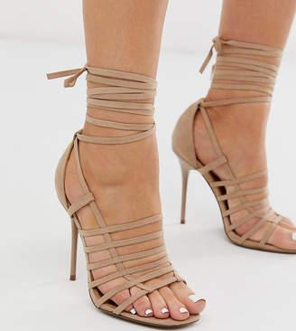 Asos Design DESIGN Wide Fit Half Way strappy stiletto heeled sandals