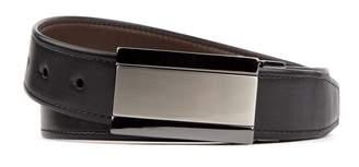 Van Heusen Men's Reversible Two-Tone Plaque-Buckle Modern Flex Stretch Belt