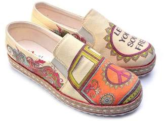 Goby Printed Matte Canvas Slip-On Flat