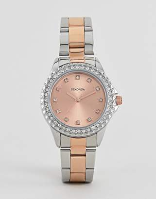 Sekonda 4254 bracelet watch with rose gold dial