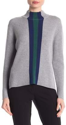 Central Park West Cashmere Mock Neck Striped Sweater