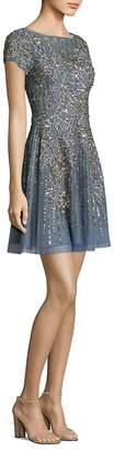 Aidan Mattox Women's Beaded Fit-&-Flare Cocktail Dress