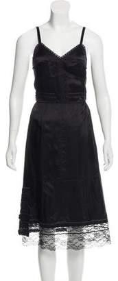 Marc Jacobs Lace-Trimmed Midi Dress