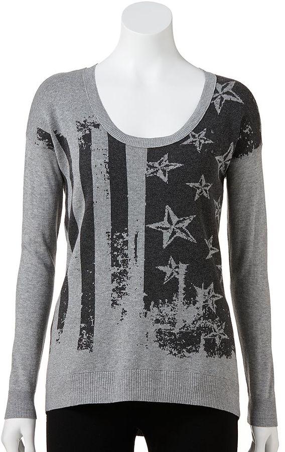 Rock & Republic flag sweater - women's