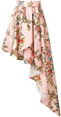 Elisabetta Franchi floral draped skirt