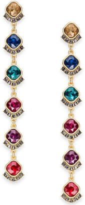 INC International Concepts I.n.c. Gold-Tone Multi-Crystal Linear Drop Earrings