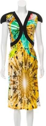 Jean Paul Gaultier Silk Cap-Sleeve Dress