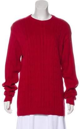 Oscar de la Renta Knit Long Sleeve Sweater Red Knit Long Sleeve Sweater