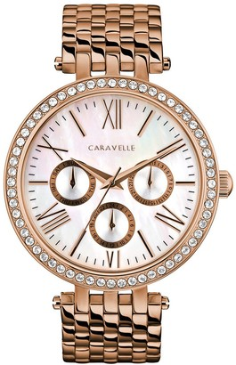 Bulova Caravelle By Caravelle by Women's Crystal Stainless Steel Watch - 44N111