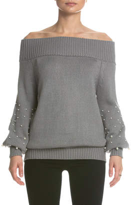 Elan International Pearl Studded Sweater