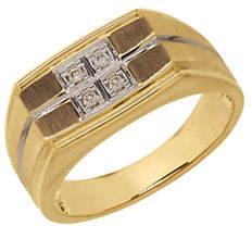 Tag Heuer FINE JEWELLERY 14k Yellow Gold Diamond Grid Ring