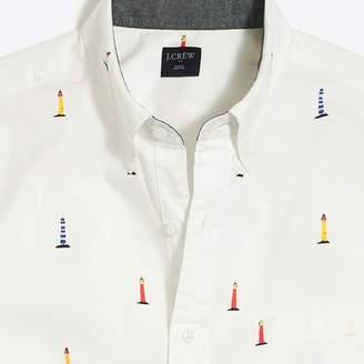J.Crew Factory Slim-fit short-sleeve printed shirt