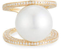 575 Denim Belpearl Grand Kobe South Sea Pearl Ring, Size