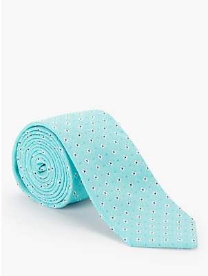John Lewis & Partners Ditsy Silk Tie