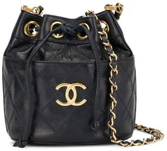 461df27737b7 Chanel Pre-Owned Cosmos Quilted CC Logos Chain shoulder bag