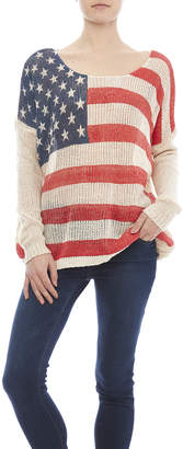 Miracle City American Flag Sweater $50 thestylecure.com