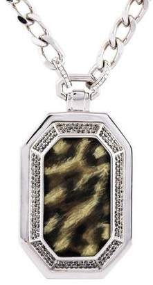 Judith Leiber Crystal Cheetah Pendant Necklace