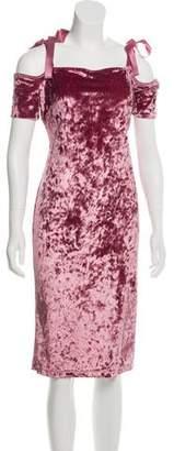 Nicole Miller Velvet Knee-Length Dress w/ Tags