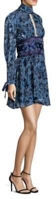 Luella Floral Fit-&-Flare Dress