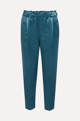 Brunello Cucinelli Satin Pants - Blue