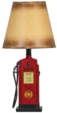 "Toscano Design Fuel Chief Gas Pump Sculptural 19"" Table Lamp Design"