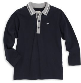 Armani Junior Armani Junior Little Boy's & Boy's Logo Polo Shirt