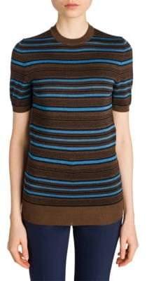 Prada Lana Pettinata Striped Knit Tee