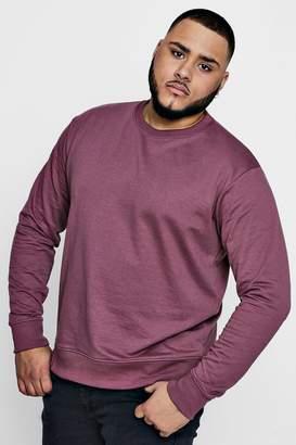 boohoo Big And Tall Basic Crew Neck Sweater