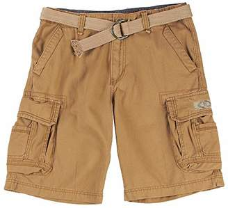 UNIONBAY Men's Classic Belted Vintage Twill Relaxed Fit Cargo Short