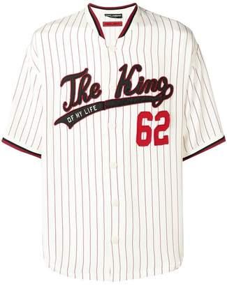 Dolce & Gabbana The King baseball shirt