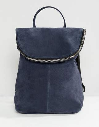 Asos Design DESIGN suede mini foldover backpack