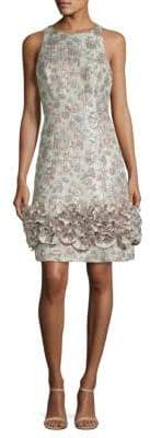 Aidan Mattox Brocade Sheath Dress